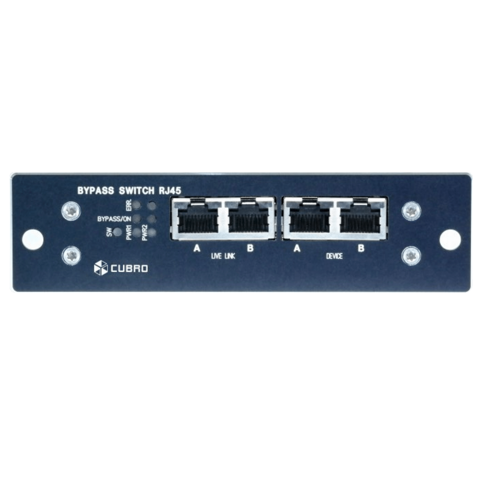 Cubro Copper Bypass Switch Frame Communications Voice Data Combination Module With Ethernet Network